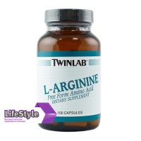 Аминокислота Twinlab L - Arginine 120 капс