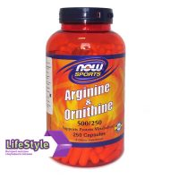 NOW ArginineOrnithine 250 капс