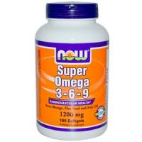NOW Foods Super Omega 3-6-9 1200 mg 180 гель. капс
