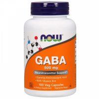 NOW Foods GABA 500 mg 100 веган. капс