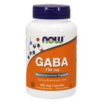 NOW Foods GABA 750 mg 100 веган. капс