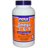NOW Foods Omega 3-6-9 1000 mg 250 мягких капс